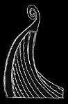 Drawing of Oseberg Ship, E. Skalwold.