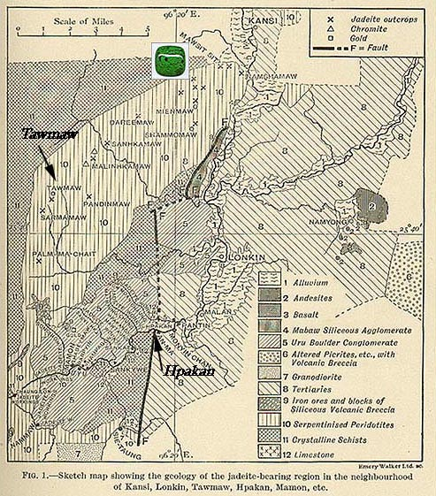 H.L. Chhibber Burma Map and Mawsitsit Deposits.