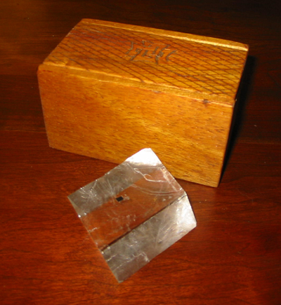 Optical Quality Iceland Spar Calcite with Box Carved by Leif Karlsen.
